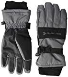 Carhartt Men's WP Waterproof Insulated Glove, Dark Grey/Black, Large