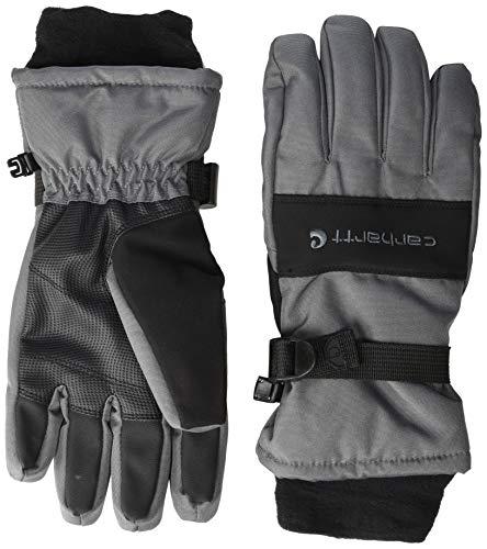 Carhartt Men's WP Waterproof Insulated Glove, Dark Grey/Black, Large