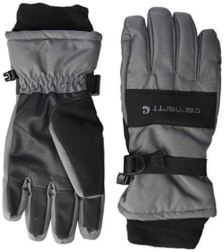 Carhartt Men's W.P. Waterproof Insulated Glove, dark grey/black, M