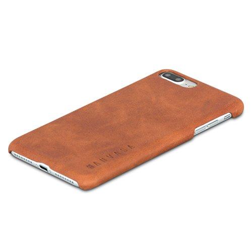 KANVASA iPhone 8 Plus Custodia/iPhone 7 Plus Custodia in Pelle Marrone Case Cover Ultrasottile One per Apple iPhone 8 Plus & 7 Plus (5,5') - Borsetta di Lusso in Vera Pelle - Cuoio Premium