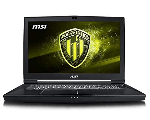 """MSI WT75 9SL-097ES - Ordenador portátil de 17.3 """" UHD (Intel Core i7-9700K, 64 GB RAM, 1 TB SSD, Nvidia Quadro P4200, Windows 10 Pro) negro - Teclado QWERTY Español"""
