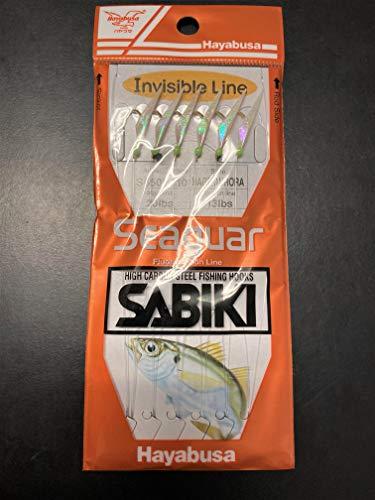 Hayabusa S-650E Hage Fish Aurora Skin Seaguar 6-Hook Sabiki Rig (10)