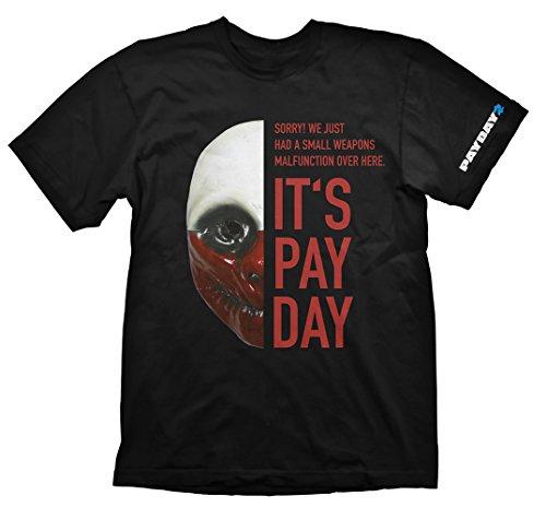 Payday 2 T-Shirt Wolf Maske, XL