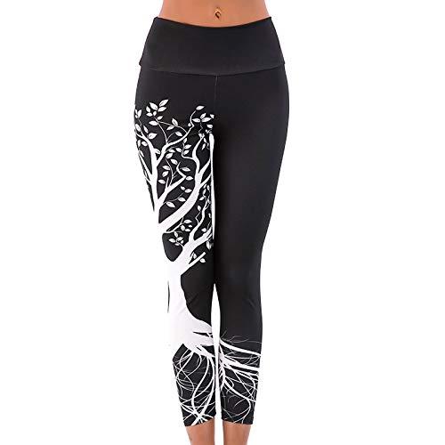 Leggings de Estampado de Geometría Digital Pantalones Deportivos para Mujer Leggins Push Up de Cintura Alta Pantalón de Yoga Mallas de Deporte Jeggings Transpirables Elásticos