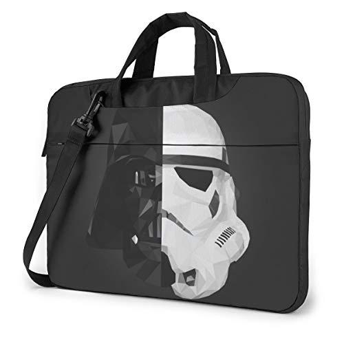 Star Wars - Bolsa para portátil de 14 a 15 y 16 pulgadas, bolsa de mensajero repelente al agua para laptop Satchel Tablet Business Bolso de transporte para mujeres y hombres Negro Negro 15,6 pulgadas