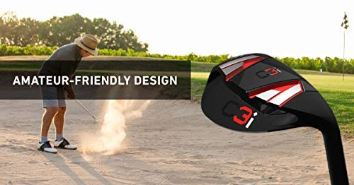 C3i Sand Wedge & Lob Wedge–Premium Right Hand 65 Degree Golf Wedge- Escape Bunkers in One, Easy Flop Shots– Legal for Tournament Play, Quickly Cuts Strokes from Short Game- High Loft Golf Club