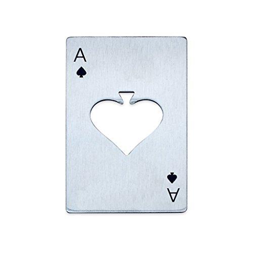 EFORCAR Reproducción de acero inoxidable Barra de Herramientas Poker regalo Picas tarjeta del as de cerveza abridor de los hombres