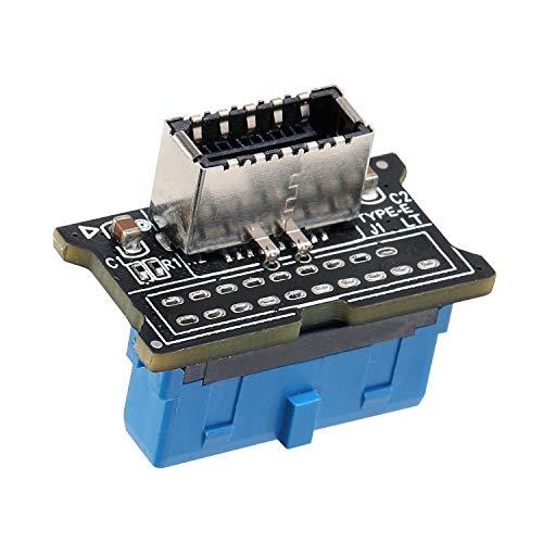 MZHOU Adaptador de Panel Frontal, Tarjeta de ExpansióN de 7 Puertos Pci-E a USB 3.0 con/Panel Frontal USB3.0 19PIN de 8 Puertos Extensión (Adaptadores-180°)