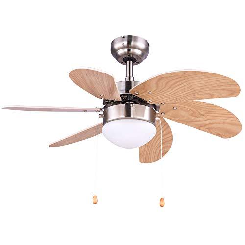 Decken Ventilator Zugschalter Lampe Kühler Heizer Glas Leuchte Anti Mücken Windmaschine 78 cm Globo 03301