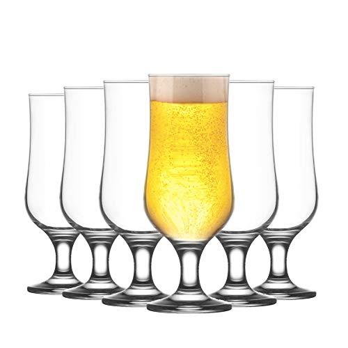 Lav Verres à bière Nevakar - à Pied - cidre/bière Artisanale/ales - 385 ML - Lot de 12