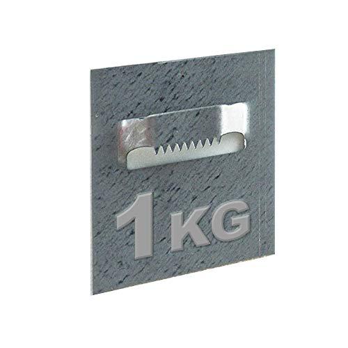 Wolff & Stübecke Klebeband Krokodil Format 50 x 52 mm zur Befestigung von Dibond, Rahmen und Spiegel, Belastung 1 kg