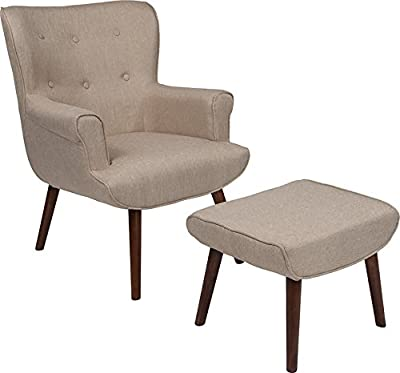 Surprising Amazon Com Poly And Bark Auzzie Lounge Chair And Ottoman In Ibusinesslaw Wood Chair Design Ideas Ibusinesslaworg