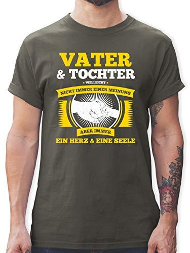 Vatertagsgeschenk - Vater und Tochter Nicht Immer Einer Meinung - XL - Dunkelgrau - für Immer Meine Tochter - L190 - Tshirt Herren und Männer T-Shirts