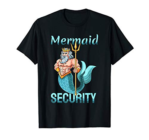 Mermaid Security Shirt | Gift For Grandpa Dad Brother Men