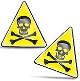 SkinoEu® 2 x 3D Gel Pegatinas Advertencia Seguridad Biológico Biohazard Toxico Precaución Detener Firmar Peligro Adhesiva Señal Riesgo Eléctrico Sécurité Radiactivos Símbolo Seguridad KS 122
