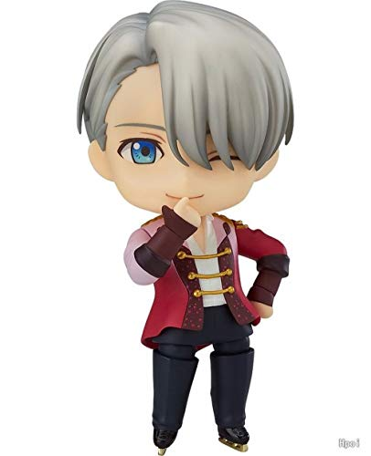 WAHE POPQ Nendoroid Nikiforov Yuri on Ice 741# Victor Handmade Statue Boxed Toy Statue Model Desktop Decoration, PVC Collection Craft Decoration Gift About 10cm High