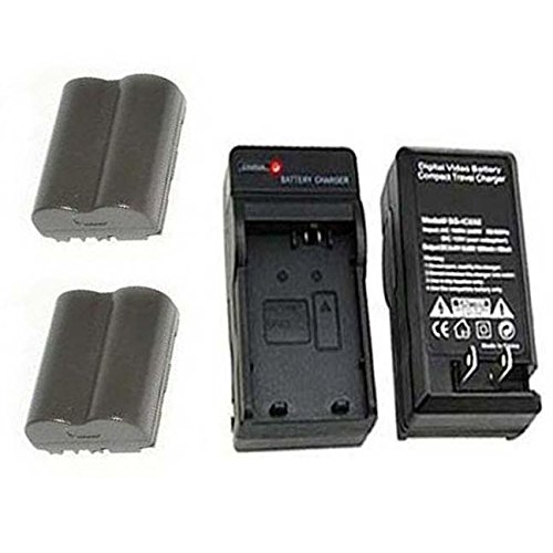 2 Batteries+Charger for Canon Digital Rebel DS6041, Canon Pro90 is, Canon Pro 1, Canon G1, Canon G2, Canon G3, Canon G5, Canon G6