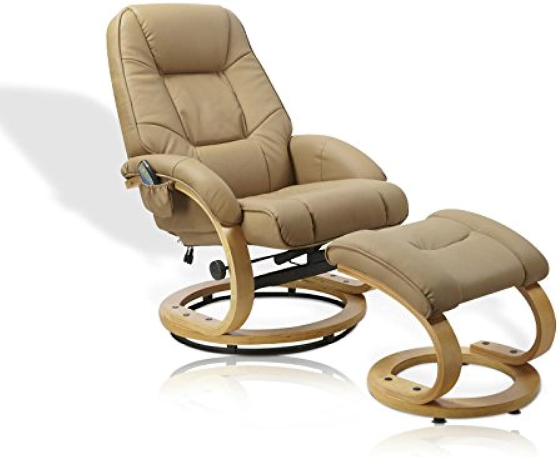 Unbekannt Massagesessel Sessel Massage Wrme Relaxsessel Fernsehsessel mit Hocker
