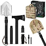 Pathway North Survival Shovel and Camping Axe Stainless Steel Multi-Tool and Survival Hatchet – Equipment for Outdoor, Hiking, Hunting, Emergency, Backpacking (Black)