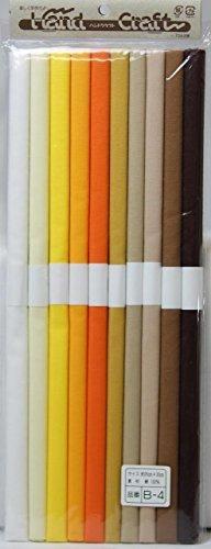 Hiromi House Japan Ensemble de Couleurs Handcraft Broadcolor 10 26 x 30 cm B - 4