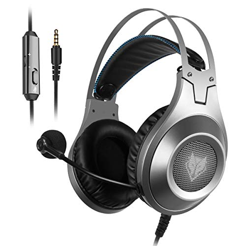 Gaming Headset for Xbox One, PS4, PC, Controller, NUBWO Wired Gaming Headphones with Microphone and Volume Control for PC / Ps4 / Xbox one 1 / Phone/Laptop, Switch Games (Black)