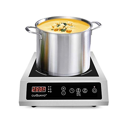 CUISUNYO Induction Cooktop, Commercial Electric Stove 3500W 240v, Hi-power Countertop Induction...
