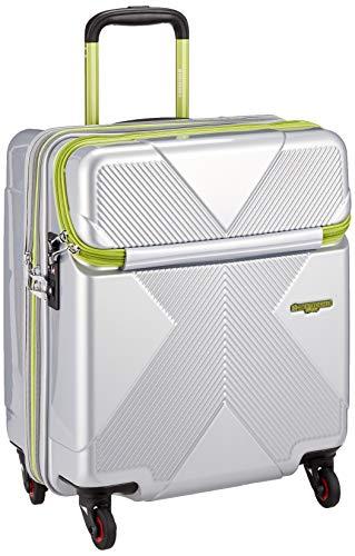 [ヒデオワカマツ] スーツケース ジッパー 拡張機能付き トップオープン マックスキャビン 機内持込最大容量 機内持ち込み可 保証付 42L 50 cm 3.4kg シルバー