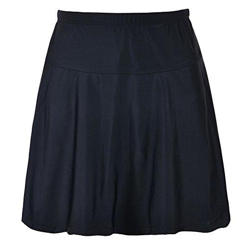 Firpearl Women's Swimsuit Bottom High Waist Athletic Bikini Bottom Swim Skirt Black 18