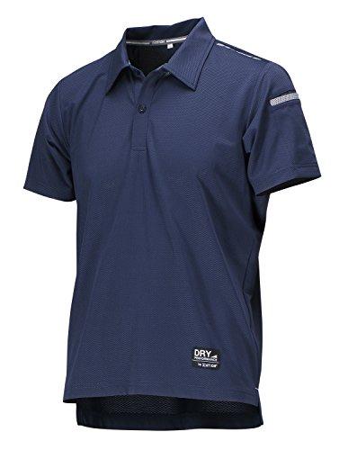 [エーショ-ン] ポロシャツ 半袖 遮熱 夏用 シェイドドライナー 半袖シャツ メンズ ネイビー L