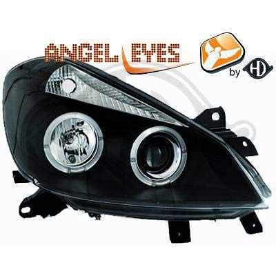 4414980, 1 paar Angel Eyes koplampen, zwart, voor Clio 3 van 2005 tot 2009