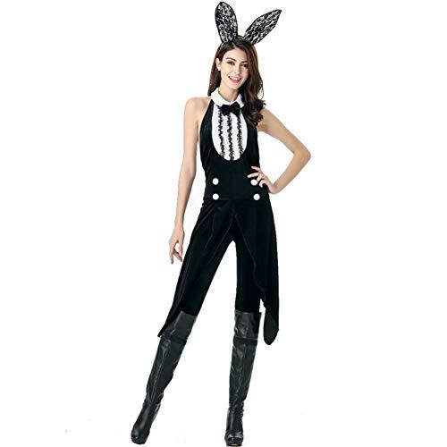 GBYAY Monos de Conejo de Halloween Esmoquin para Adultos Juegos de rol Disfraces Disfraz de conejita para Mujer
