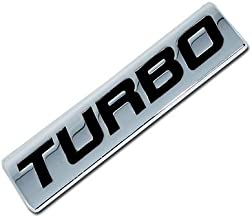 Chrome/Black Metal Turbo Engine Race Motor Swap Emblem Badge For Trunk Hood Door for Chevrolet Cruze