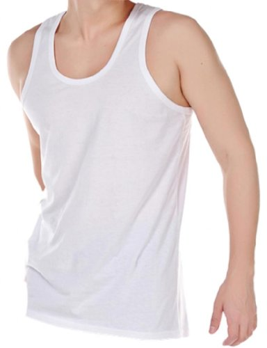 HDUK TM Mens Underwear - Maillot de corps - Homme Blanc Blanc