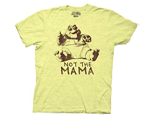 Ripple Junction Dinosaurs Adult Unisex Not The Mama 1 Color Heavy Weight 100% Cotton Crew T-Shirt XL Yellow