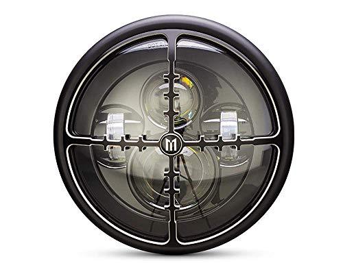 Moto Faro LED 7.7 ' Con Obiettivo Design Griglia Per Retro Cafe per Moto & Streetfighter