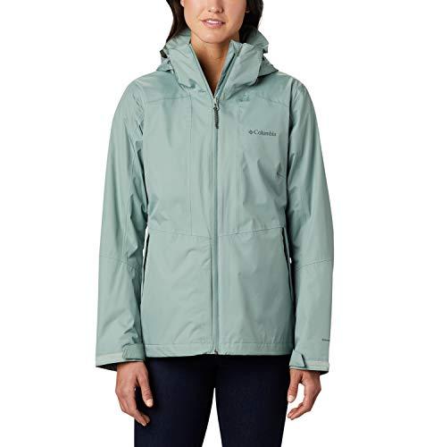 Columbia Damen Windgates Wasserdichte Regenjacke, Grün (Light Lichen), S
