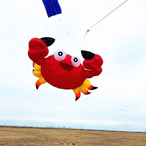 Tylyund Kites Large Soft Crab Kite Flying Outdoor Toys Ripstop Nylon Kite For Adults Wheel Eagle Kite New Octopus Cometa