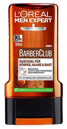 L'Oréal Men Expert Barber Club Duschgel für Körper, Haare & Bart, 300 ml, AA094100