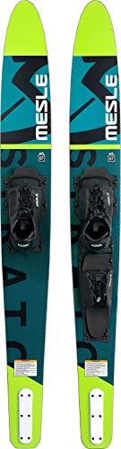 MESLE Combo Wasser-Ski Strato 170 cm mit B6.2 Boot-Bindung, Pro Combo-Ski für Jugendliche und Erwachsene, für Fortgeschrittene und ambitionierte Slalom-Ski Fahrer, Farbe:grün