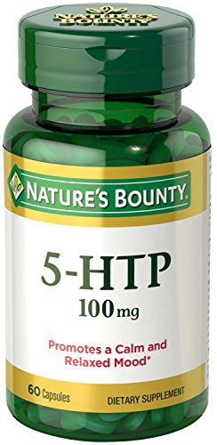 Nature's Bounty 5-HTP Pills and Dietary Supplement, Supports a Calm and Relaxed Mood, 100mg, 60 Capsules