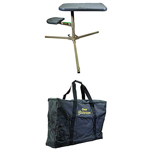 Caldwell Stable Table with Ambidextrous Design, 360 Degree Rotation Stable Table Carry Bag with Heavy Duty Construction and Inner Compartment for Outdoor, Range, Shooting and Cleaning