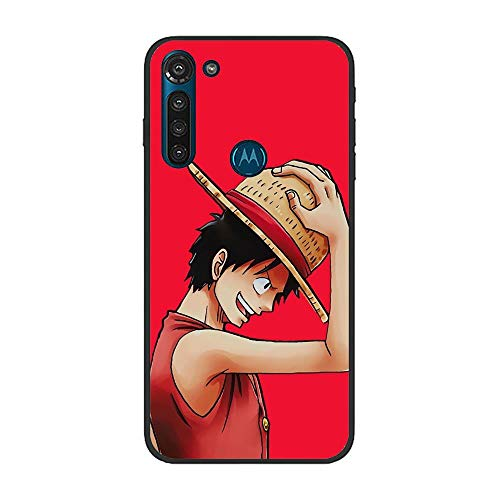 Gentra feature Matte Black CoqueSoft Crystal Slim TPU Bumper Compact Protective Cover Case For Moto G8 Power-One-Piece Japan Anime 3
