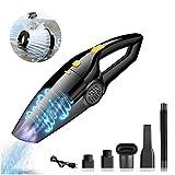 Aspirador Mano Sin Cable Potente Aspiradoras en Seco y H/úmedo,Accesorio Completo para Hogar y Coche Aspiradora de Mano 6000PA