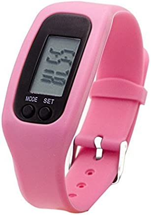 Fitness Tracker Watch, Simply Operation Walking Running Pedometer with Calorie Burning and Steps Counting(Rose)
