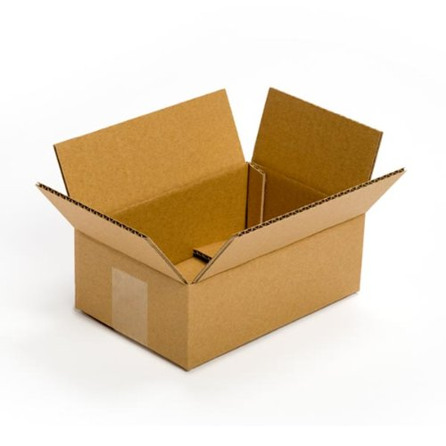 "Pratt PRA0022 Recycled Corrugated Cardboard Single Wall Standard Flat Box with C Flute, 9"" Length x 6"" Width x 3"" Height, (Pack of 25)"