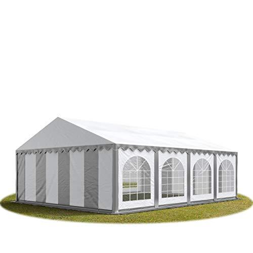 TOOLPORT 6x8 m ignifugoTendone per Feste Premium PVC Bianco 100% Impermeabile Gazebo da Giardino Tendone da Esterno Tenda Party