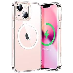 """ESR iPhone 13 ケース 2021 ハイブリッドケース HaloLock付き 磁気ワイヤレス充電 透明 黄変しにくい 落下保護性能改善 傷に強い背面 6.1インチ クリア"""""""