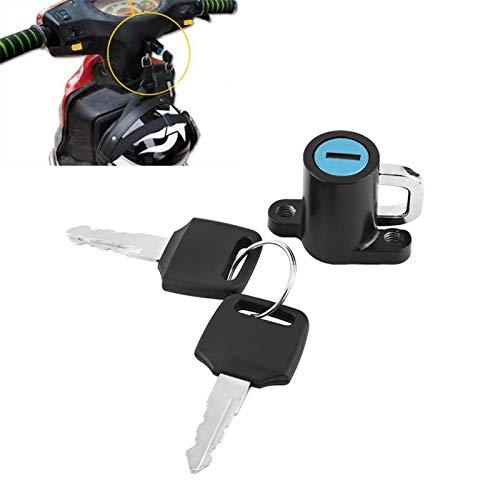 Terisass Cerradura para Casco de Motocicleta, Gancho para Colgar con Cerradura de Seguridad Universal para Motocicleta con Juego de 2 Llaves para Motos Scooter