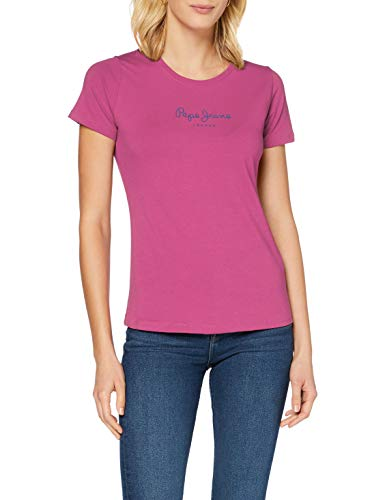 Pepe Jeans New Virginia Camiseta, Rosa (Rose 389), XL para Mujer