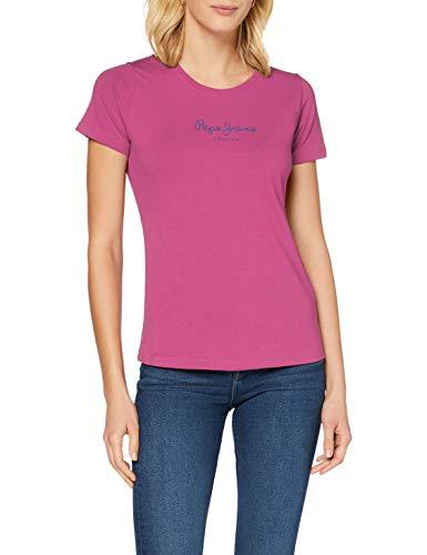 Pepe Jeans New Virginia Camiseta, Rosa (389), XXS para Mujer